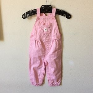 Teddy Bear Pocket Snap Girl's Overalls